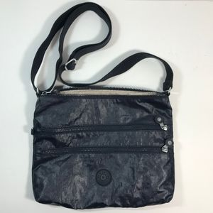 Kipling Shimmer Black Crossbody Bag Purse